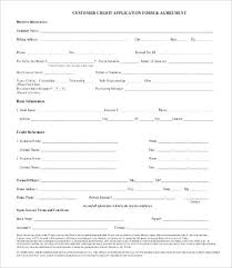 credit application form free credit application form letter of