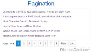 Count Pages In Php Scripts Pagination In Php And Mysql With Exle