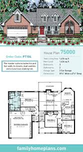 cape cod house plan 75000 total living area 1636 sq ft 3