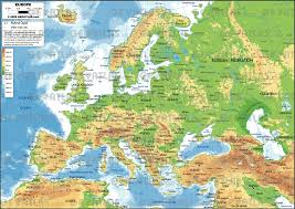 map of europe geographical map europe major tourist attractions maps