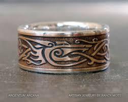 Viking Wedding Rings by Viking Wolf Ring Sterling Silver Viking Ring от Argentumarcana A