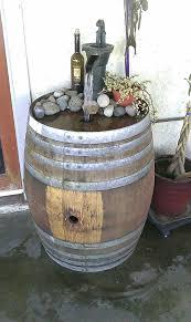 wine barrel fountain home decor pinterest