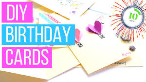 diy birthday cards you can make in less than 10 minutes