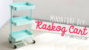 ikea inspired miniature raskog cart diy youtube