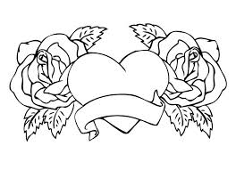coloring pages with roses roses and hearts coloring pages heart coloring pages roses and