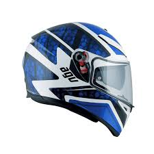 agv motocross helmets agv k3 sv pulse white black blue free uk delivery