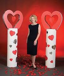 Valentine Banquet Decorations Ideas by Backdrop For A Middle Valentines Dance Made With Dollar