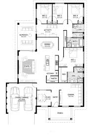 apartments four bedroom three bath house plans floorplan