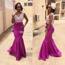 african mermaid wedding guest dresses bridal purple