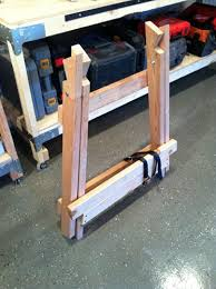 How To Make A Fold Down Workbench How Tos Diy by 25 Unique Sawhorse Plans Ideas On Pinterest Folding Sawhorse