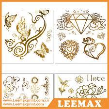 lm1019 fashion jewellery gold body tattoos name tattoos designs