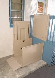 vertical platform lift porch lift installed in michigan