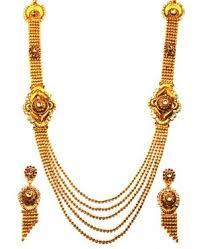 gold rani haar sets necklace 1gm gold platted necklace rani haar set online