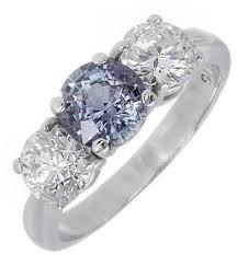 chagne diamond engagement ring platinum 1 05ct of color change grey blue purple sapphire