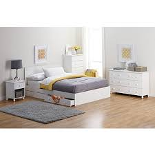 White King Platform Bed Fingerhut Alcove King Platform Bed With Storage Drawers White