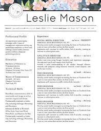 Microsoft Resume Templates For Word 5 Best Creative Resume Templates For Microsoft Word 2017