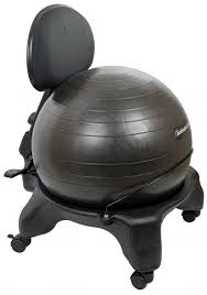Adjustable Office Chair Exercise Ball Office Chair Black 52cm Ball Adjustable Back