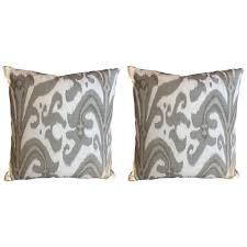 viyet designer furniture accessories custom linen gray ikat