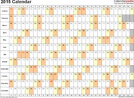 2015 calendar excel download 16 free printable templates xlsx