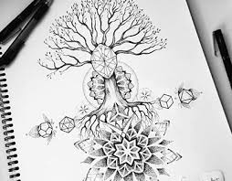 tree and geometry back design on behance