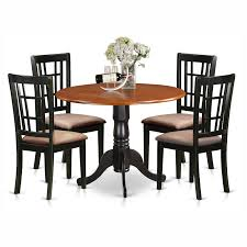 east west furniture dublin 5 piece drop leaf dining table set with