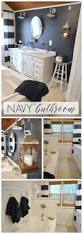 navy blue cottage bathroom makeover budgeting bath and navy
