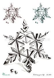 waterproof solid geometry sketch snowflake tattoo tattoo custom