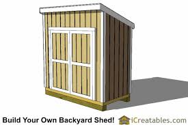 How To Build A Small Lean To Storage Shed by 4x8 Shed Plans 4x8 Storage Shed Plans Icreatables Com