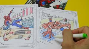 magic painting spiderman colors appear like magic coloring pages