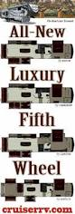 5th Wheel Camper Floor Plans by Best 25 Luxury Fifth Wheel Ideas On Pinterest Luxury Rv 5th