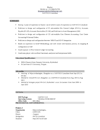 Sap Fico Sample Resumes by Professional General Ledger Accountant Resume Template
