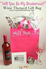 wine themed gifts 156 best bridesmaid s gift ideas images on flower