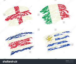 How To Draw Country Flags Crayon Draw Englanditalycosta Ricauruguay Country Flags Stock
