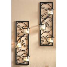 Wall Candle Sconces With Glass Wall Ideas Metal Wall Candle Holders Black Metal Wall Candle