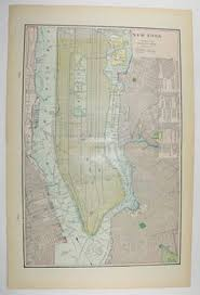 wedding gift nyc 1900 new york city map ny nyc map map city map