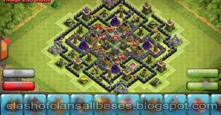 big clash of clans base clash of clans th9 base which big bombs inside of the base for