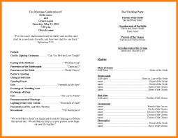 Wedding Ceremony Program 4 Wedding Ceremony Program Template Monthly Budget Forms