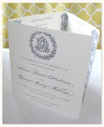 tri fold wedding programs pulitzer custom collections