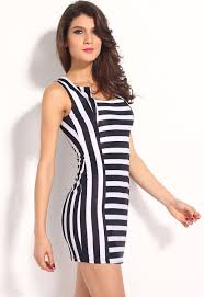 modern dress modern women black white striped mini dress forteneuro