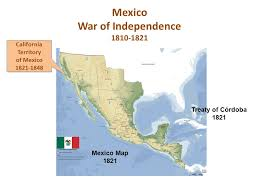 map of mexico 1821 establishing a form of democracy ppt
