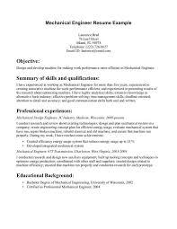 Be Mechanical Engineering Resume Entry Level Mechanical Engineer Resume Cbshow Co