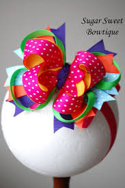 bowtique hair bows handmade boutique hair bows layered boutique bow headband