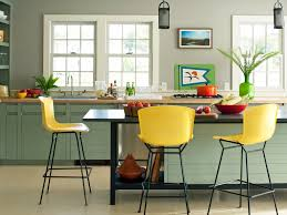 small kitchen fittings are unique with bright yellow plastic bar
