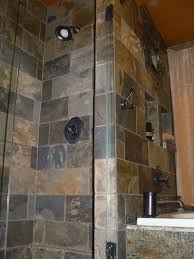 Slate Tile Bathroom Shower Slate Tile Shower Bathroom Mediterranean With Arched Mirror Arched