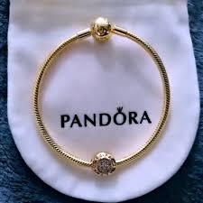 bracelet pandora gold images Pandora jewelry shine gold bracelet gold charm poshmark jpg