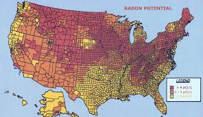 Map If Usa by Radon Gas In Your Home May Cause Lung Cancer Modern Survival Blog
