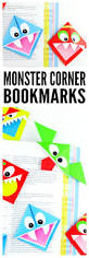 diy corner bookmarks cute monsters easy peasy and fun