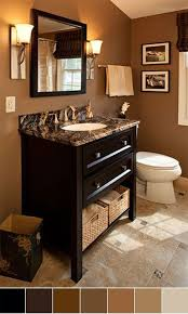 Brown Bathroom Cabinets by Best 20 Bathroom Color Schemes Ideas On Pinterest Green