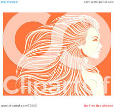 royalty free rf clipart illustration of a beautiful orange and