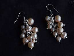chandelier earrings gold pearl berry chandelier earrings nouvelle pearl